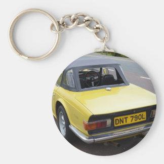 Classic TR6 Triumph Sportscar Keychains