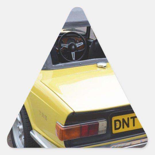 Classic TR6 Triumph Sportscar Triangle Sticker