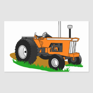 Classic Tractor 1 Rectangular Sticker