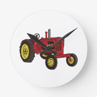 Classic Tractor 1 Round Clock