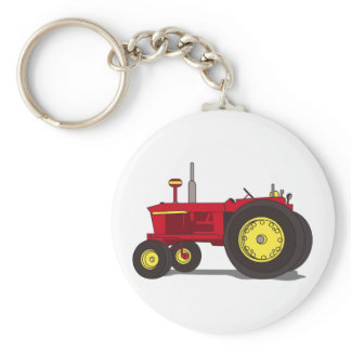 Classic tractor keychain