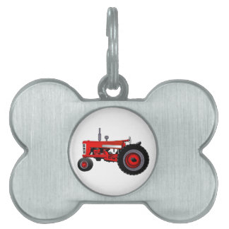 Classic Tractor Pet ID Tag