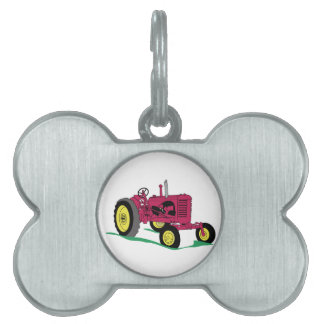 Classic Tractor Pet Tag