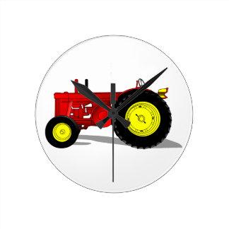 Classic Tractor Round Clock
