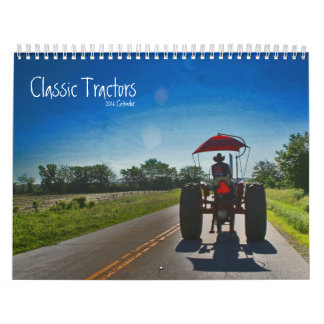 Classic Tractors Calendar: Customize the Year Calendar