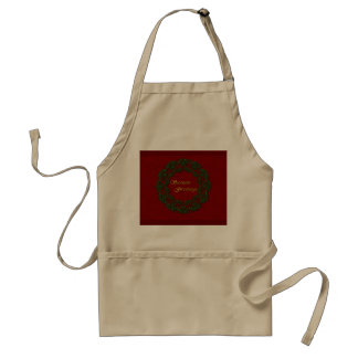 Classic Traditional Red and Green Holiday Apron