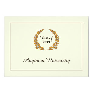 classic traditional style graduation announcement - Graduation Announcement Cards