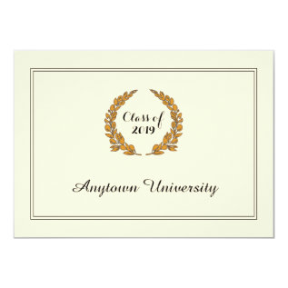 Classic Traditional Style Graduation Announcement at Zazzle