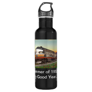 Classic Trains Thirst Quencher Stainless Steel Water Bottle