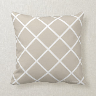 Classic Trellis Pillow in Sand/White