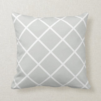 Classic Trellis Pillow in Weathered/White
