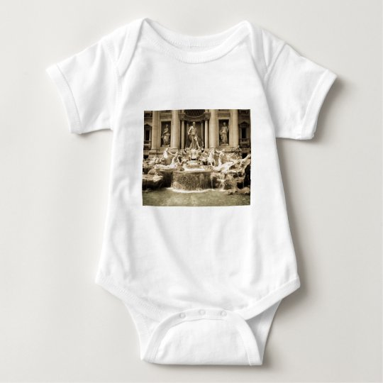 Classic Trevi Fountain, Rome Baby Bodysuit