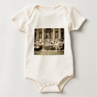 Classic Trevi Fountain, Rome Baby Bodysuit