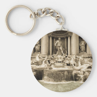 Classic Trevi Fountain, Rome Basic Round Button Keychain