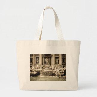 Classic Trevi Fountain, Rome Canvas Bags