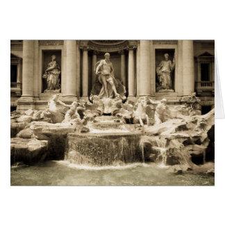 Classic Trevi Fountain, Rome Card