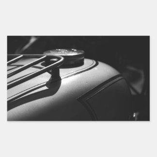Classic Triumph Motorcycle Rectangular Sticker