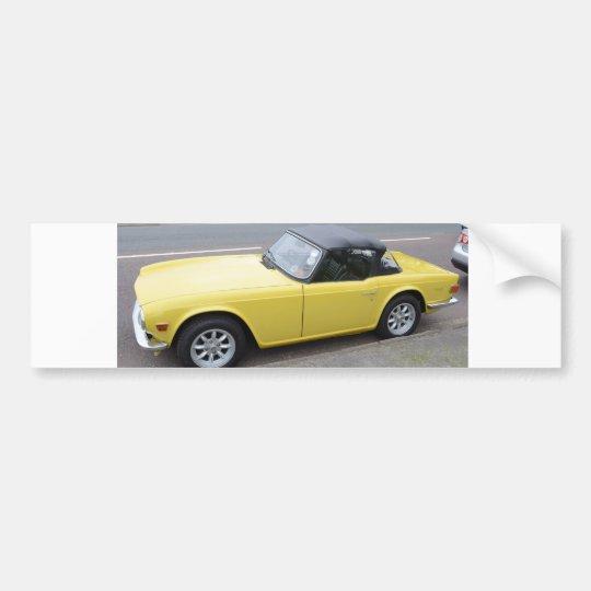 Classic Triumph TR6 Sportscar Bumper Sticker