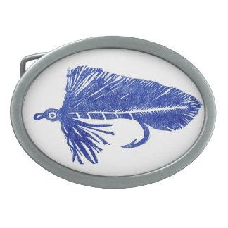 "Classic Trout Fly Belt Buckle ""Blue Matuka"""