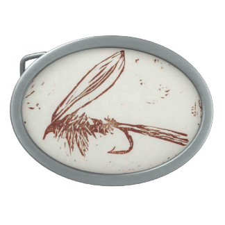 """Classic Trout Fly Belt Buckle """"Brown Hare's Ear"""""""