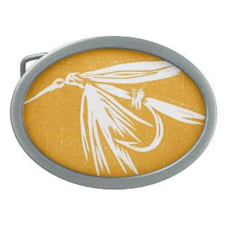 """Classic Trout Fly Belt Buckle """"Golden Wetfly"""""""