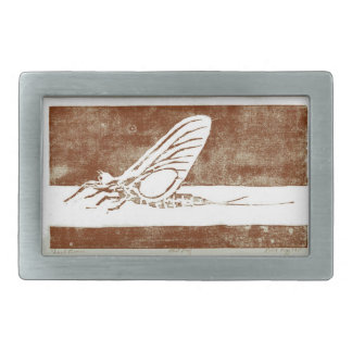 """Classic Trout Fly Belt Buckle """"March Brown"""""""