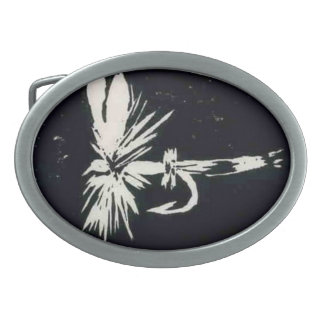 """Classic Trout Fly Belt Buckle """"Royal Coachman"""""""