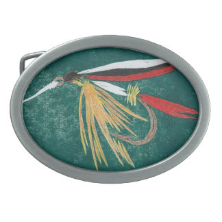 """Classic Trout Fly Belt Buckle """"Trout Fin"""""""