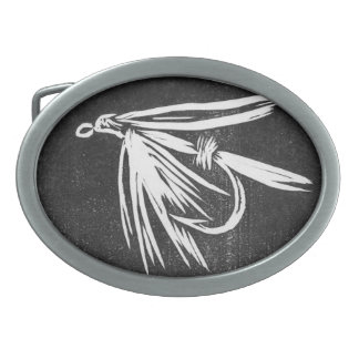 """Classic Trout Fly Belt Buckle """"Wet Fly Black"""""""