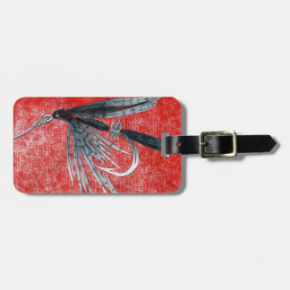 Classic Trout Fly Black Gnat Wet Fly Luggage Tag