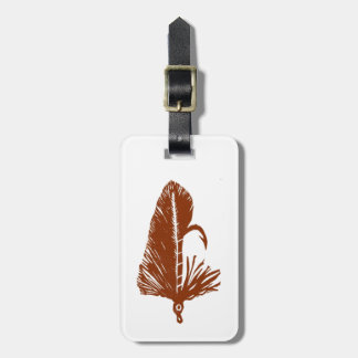 Classic Trout Fly Brown Matuka Luggage Tag