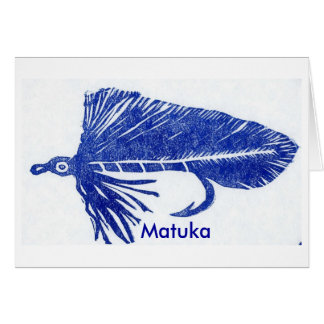 """Classic Trout Fly  Card """"Blue Matuka"""""""