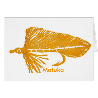 """Classic Trout Fly  Card """"Golden Matuka"""""""