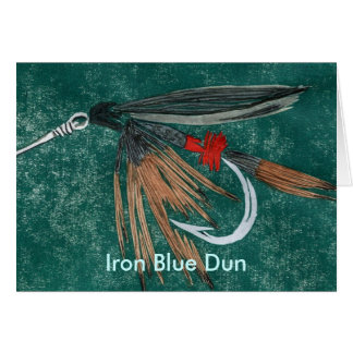 """Classic Trout Fly  Card """"Iron Blue Dun"""""""