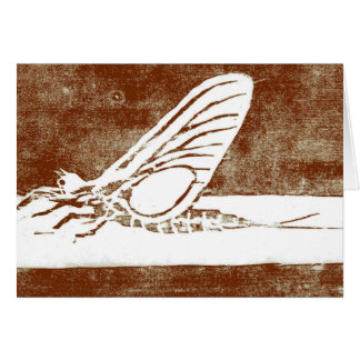 """Classic Trout Fly  Card """"March Brown"""""""