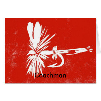 """Classic Trout Fly  Card """"Red Coachman"""""""