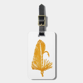 Classic Trout Fly Golden Matuka Luggage Tag