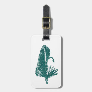 Classic Trout Fly Green Matuka Luggage Tag