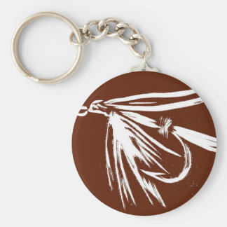 """Classic Trout Fly Keychain """"Brown Wet Fly"""""""