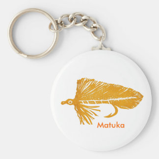Classic Trout Fly Keychain Golden Matuka Streamer