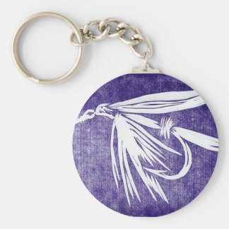 """Classic Trout Fly Keychain """"Purple Wet Fly"""""""