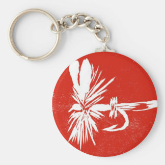 """Classic Trout Fly Keychain """"Red Coachman"""""""
