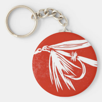 """Classic Trout Fly Keychain """"Red Wet Fly"""""""