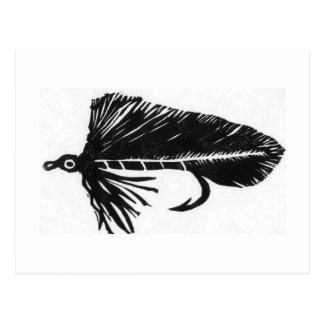 "Classic Trout Fly Postcard ""Black Matuka"""