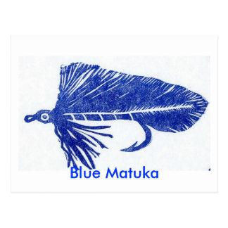 "Classic Trout Fly Postcard ""Blue Matuka"""