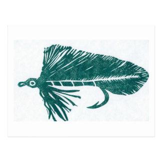 "Classic Trout Fly Postcard ""Green Matuka"""