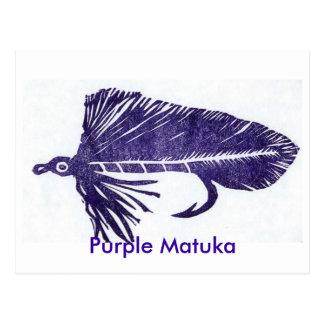 "Classic Trout Fly Postcard ""purple matuka"""