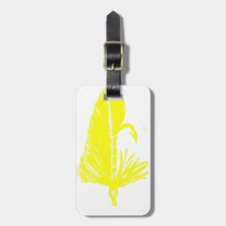 Classic Trout Fly Yellow Matuka Luggage Tag