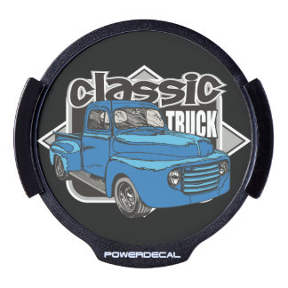 Classic Truck 1950's Vintage Pickup LED Car Decal