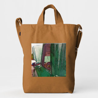 Classic truck as art duck bag